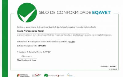 EPTOMAR RECEBE CERTIFICAÇÃO EQAVET DE GARANTIA DE QUALIDADE NA EDUCAÇÃO E FORMAÇÃO PROFISSIONAL